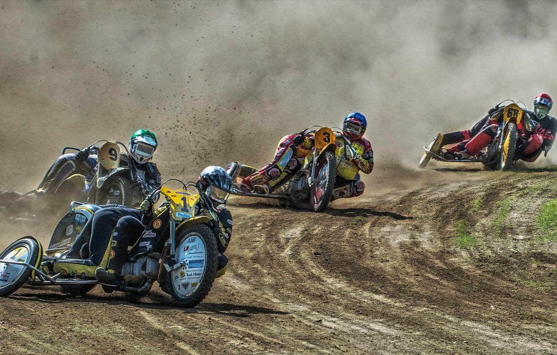 Фото обои мотоциклы, гонка, спорт