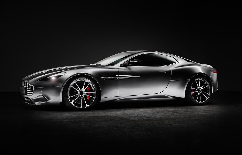 Фото обои Aston Martin, серебристый, астон мартин, сбоку, Thunderbolt, 2015, Galpin