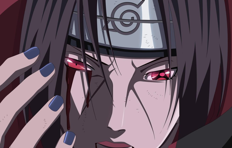 Фото обои blood, hitman, Naruto, man, sharingan, Uchiha Itachi, assassin, hero, Akatsuki, Naruto Shippuden, doujutsu, powerful, hitaiate, …