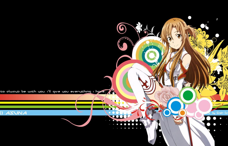 Фото обои взгляд, улыбка, Аниме, Sword art online, Юуки Асуна, Мастера меча онлайн, Yuuki Asuna
