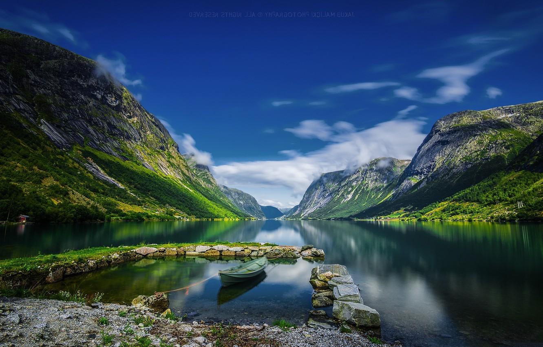 Фото обои Landscape, water, Norway, Fjord, Kjøsnesfjorden, Jakub Malicki