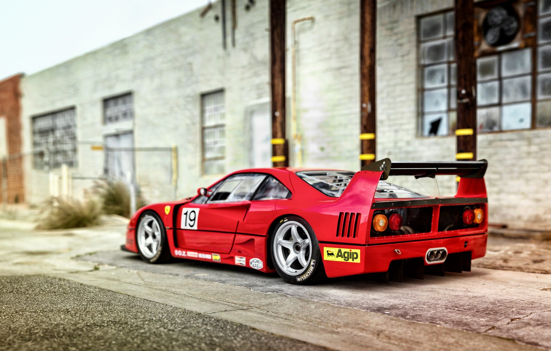 Фото обои Ferrari, F40, феррари, Pininfarina, 1994, Michelotto