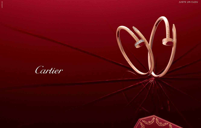 Фото обои стиль, золото, украшение, сережки, бренд, diamond, Cartier