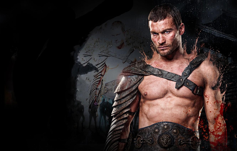 Фото обои воин, гладиатор, сериал спартак, spartacus, песок и кровь