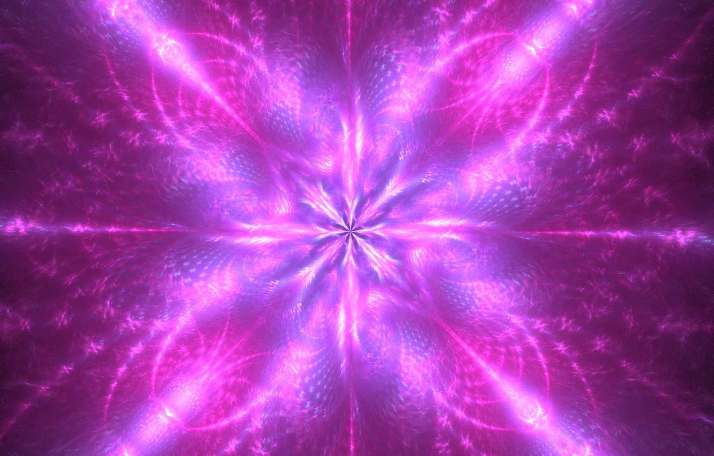 Обои цветок, свечение, фрактал, свет, абстракция. Абстракции foto 14