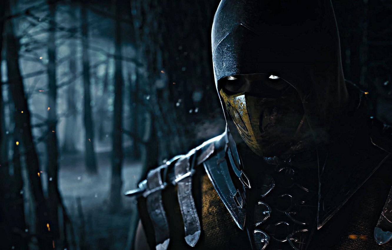 Фото обои Scorpion, Mortal Kombat X, Ninja-Ghost, Mortal Kombat 10