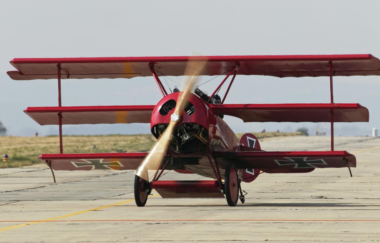 Обои сил, триплан, Fokker dr.1, военно-воздушных, истребитель. Авиация foto 14