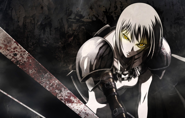 Фото обои меч, аниме, воин