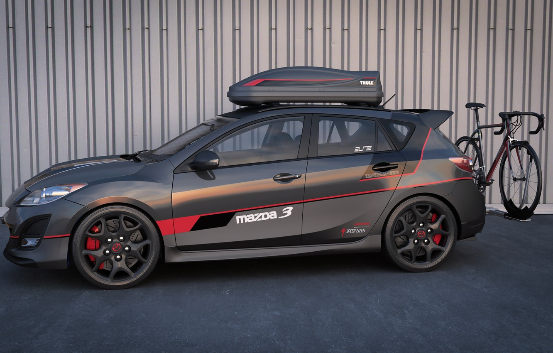 Фото обои графика, арт, dangeruss, Mazdaspeed3, спортивная модификация, MPS, cycling edition, Mazda Performance Series
