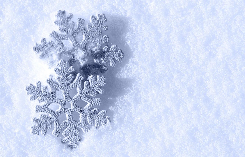 Открытка зима снежинка