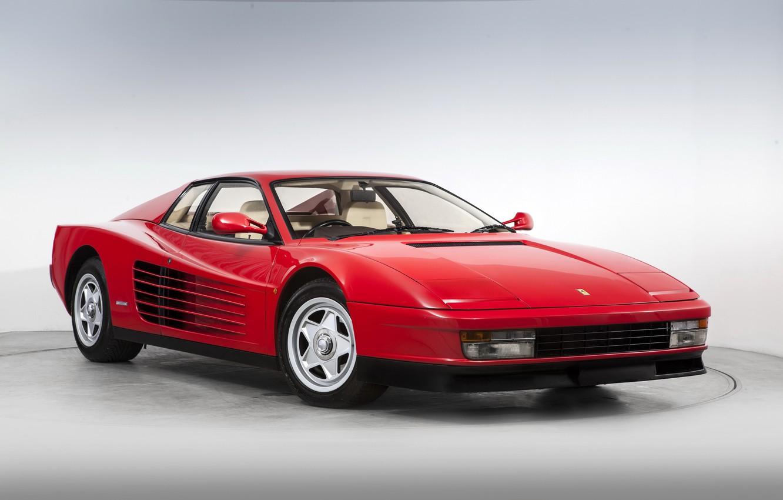 Фото обои Ferrari, суперкар, феррари, 1987, тестаросса, Testarossa