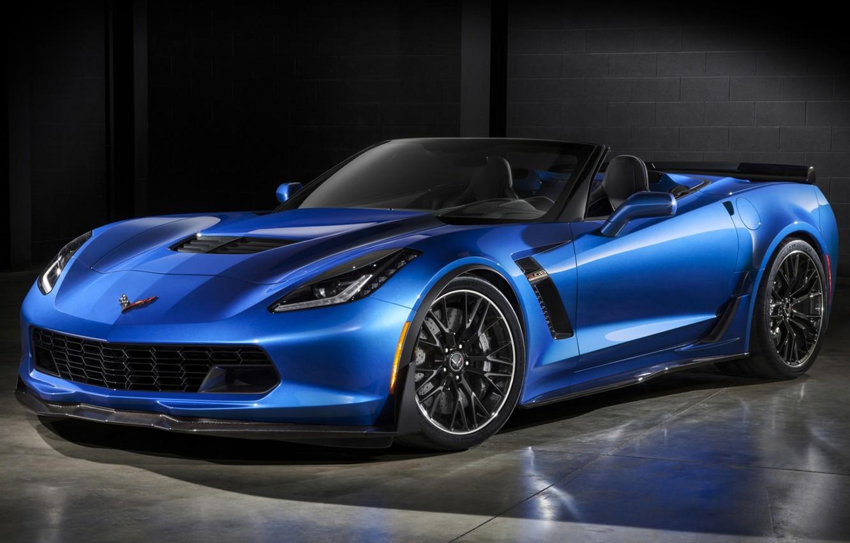 Фото обои Z06, Corvette, Chevrolet, Шевроле, суперкар, кабриолет, передок, Convertible, Корвет