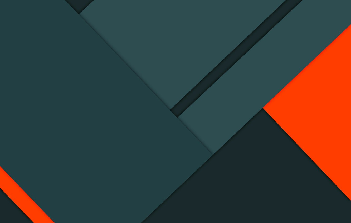 Фото обои Orange, Android, Design, 5.0, Lines, Lollipop, Material, Triangles, Angles, Abstractions