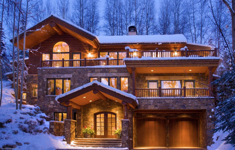 Картинки красивого дома зимой