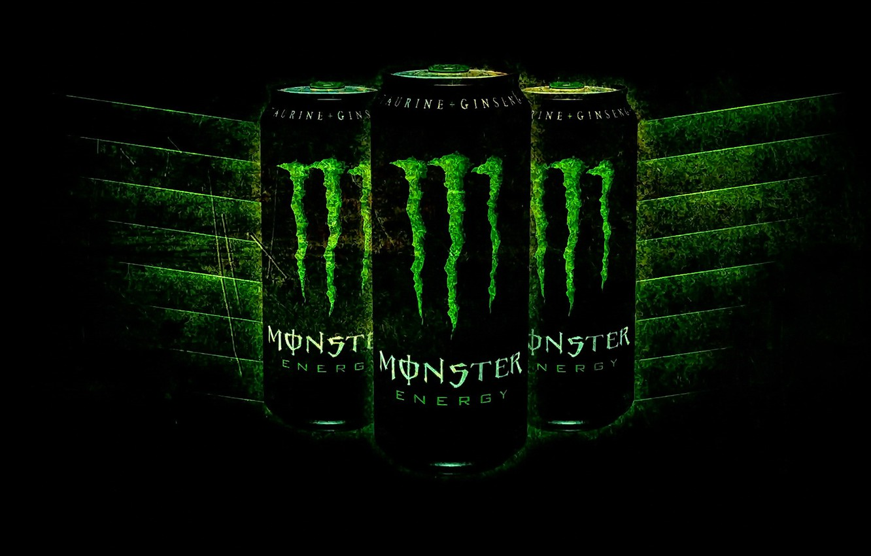 Фото обои логотип, Monster Energy, бренд, энергетик