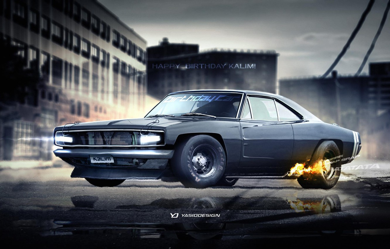 Фото обои Dodge, Charger, Custom, yasiddesign