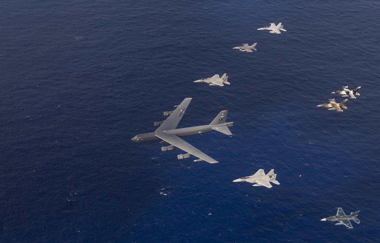 Фото обои полет, авиация, армия, самолеты