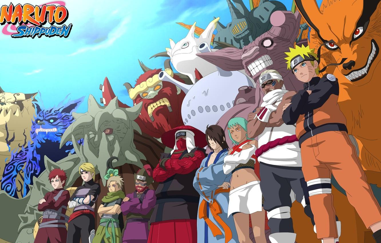 Фото обои game, Naruto, anime, ninja, asian, manga, shinobi, japanese, Naruto Shippuden, Son Goku, Kyuubi, jinchuuriki, live …