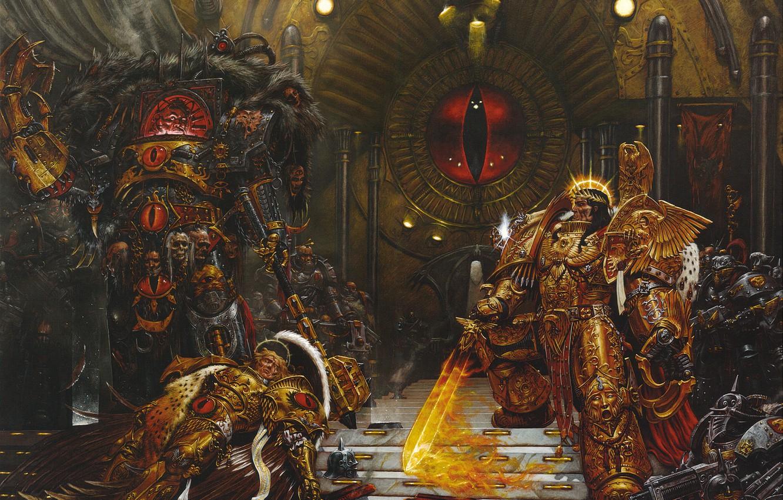 Фото обои Horus Heresy, Ересь Хоруса, Warhammer 40000, Император