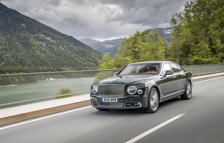 Фото обои Bentley, Автомобиль, 2016, Mulsanne Speed, Металлик