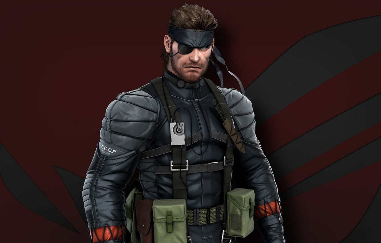 Фото обои red, gun, pistol, soldier, weapon, Snake, man, wolf, Metal Gear Solid, Asus, hero, knife, suit, …