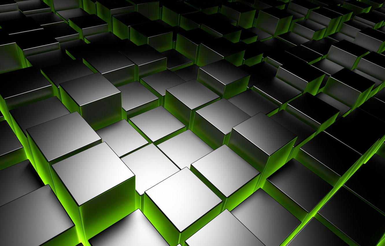 Фото обои кубы, metal, square, cubes, chrome, brick