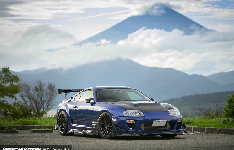 Фото обои тюнинг, гора, Япония, Toyota, Supra