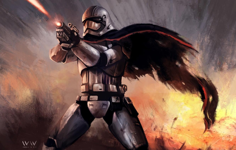 Фото обои оружие, Star Wars, клон, Звездные Войны, бластер