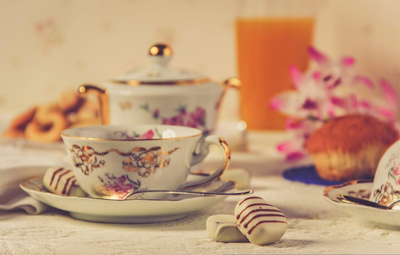 Картинки чай на столе красивые