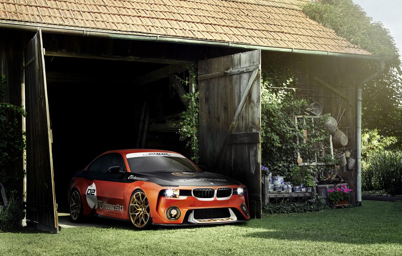 Фото обои Concept, BMW, Тюнинг, Оранжевый, Автомобиль, 2002, Hommage, 2016