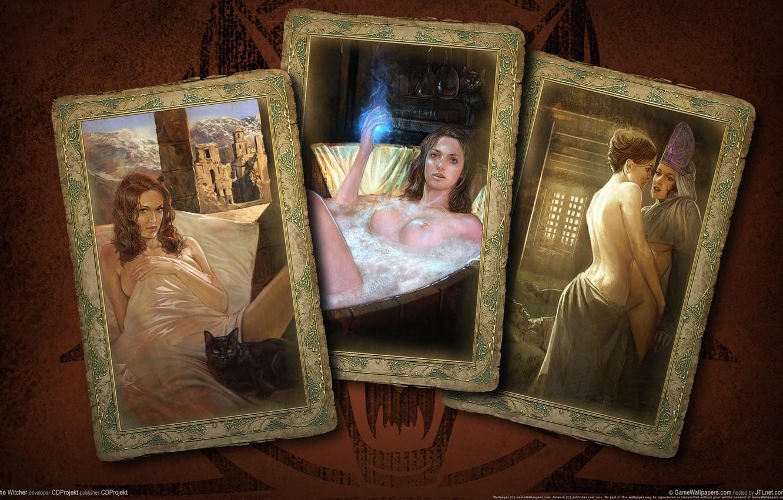 Фото обои карты, девушки, ведьмак
