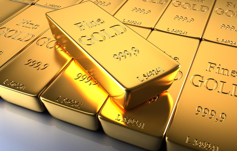 Фото обои металл, золото, слитки, проба