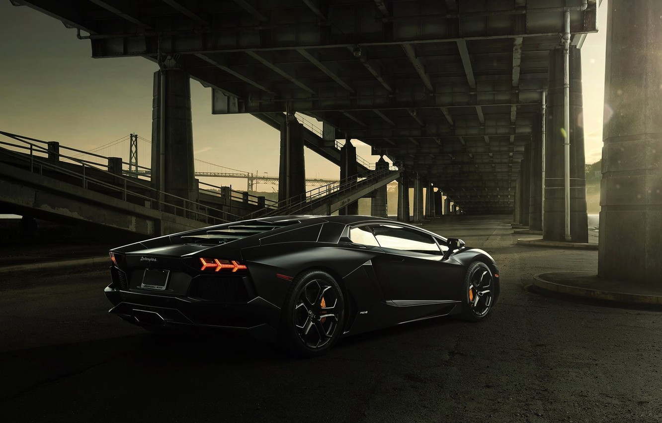 Обои brake, supercar, Lamborghini, bridge. Автомобили foto 7