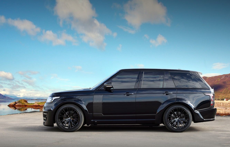 Фото обои Land Rover, Range Rover, Sky, Black, Tuning, Lumma Design