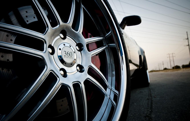 Фото обои машина, колесо, диск, corvette, chevrolet
