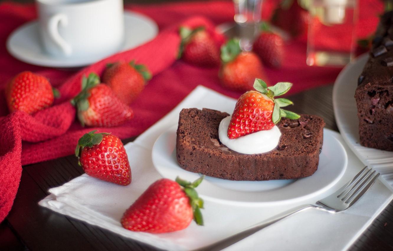 Обои Strawberry, cake, food. Еда foto 15