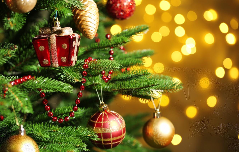 Фото обои украшения, дерево, праздник, шары, Happy New Year, balls, tree, Merry Christmas, Holiday, С Новым годом, …