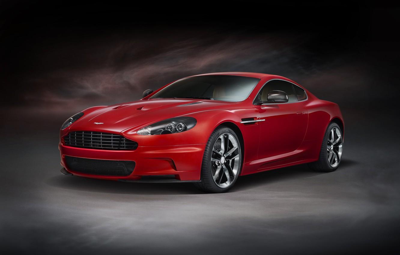 Фото обои Aston Martin, DBS, красная, Vanquish