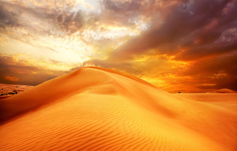 Фото обои песок, небо, облака, пейзаж, природа, пустыня, дюны, восход солнца, sky, desert, landscape, nature, clouds, sand, …