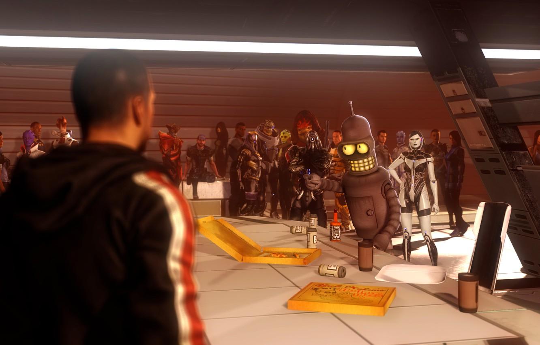 Фото обои робот, mass effect, Miranda Lawson, shepard, Joker, bender, Legion, Garrus Vakarian, Ashley Williams, EDI, Thane …