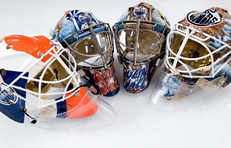 Фото обои спорт, лёд, хоккей, каска