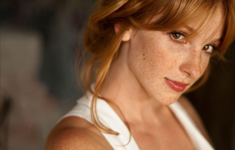 Фото обои веснушки, рыжая, girl, redhead, actress, freckles, Vica Kerekes