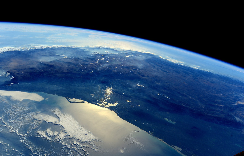 Фото обои космос, Мексика, Земля, МКС