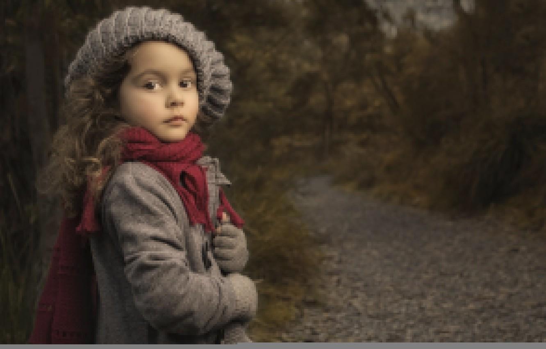 Обои шарф, Девочка, шапка, малышка. Разное foto 6