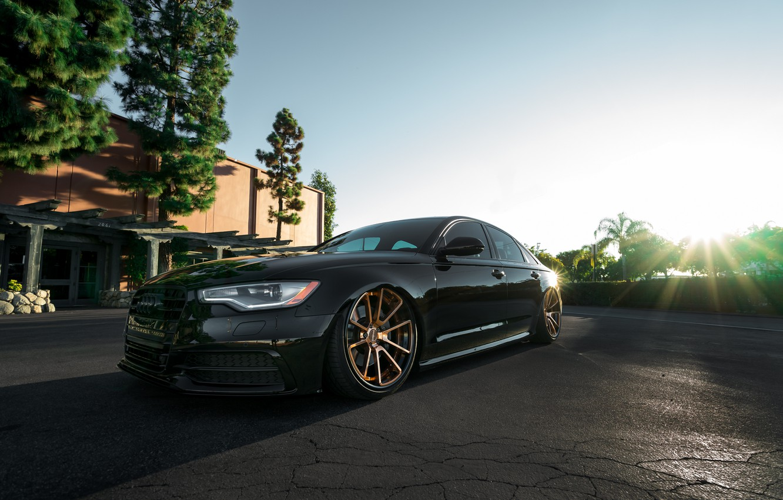Фото обои Audi, Black, Wheels, Rotiform, Bronze, Autohaus, Boden
