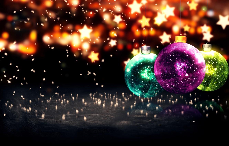Фото обои Новый Год, Рождество, Christmas, balls, New Year, Happy, Merry