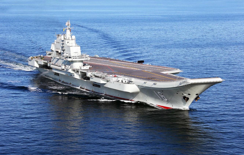 Фото обои Chinese aircraft carrier Liaoning, Kuznetsov-class, Aircraft Carrier