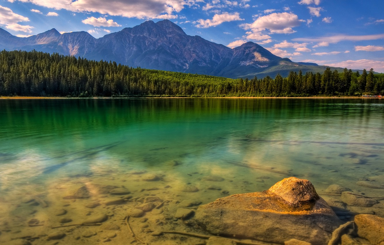 Фото обои лес, горы, озеро, forest, nature, mountains, lake