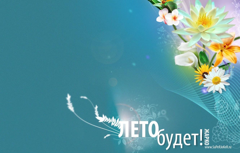 Фото обои лето, линии, цветы, обещания, сети, надежда, текст