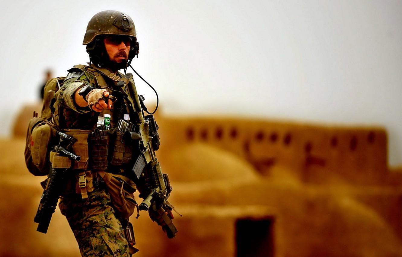 Фото обои оружие, война, солдат